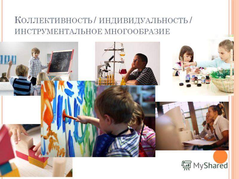 К ОЛЛЕКТИВНОСТЬ / ИНДИВИДУАЛЬНОСТЬ / ИНСТРУМЕНТАЛЬНОЕ МНОГООБРАЗИЕ