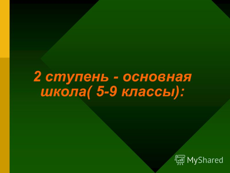 2 ступень - основная школа( 5-9 классы):