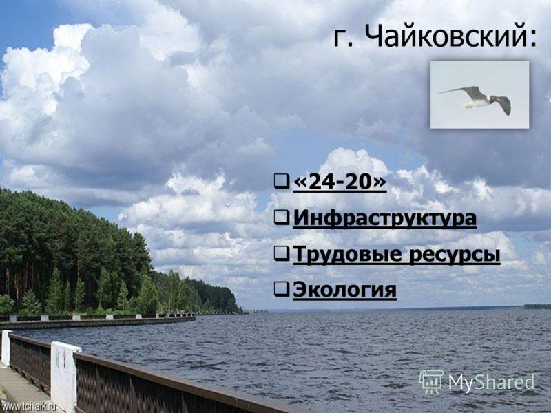 г. Чайковский: «24-20» Инфраструктура Трудовые ресурсы Экология