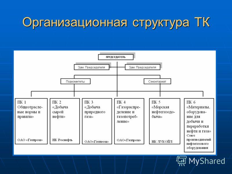 Организационная структура ТК