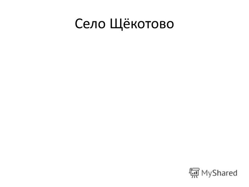 Село Щёкотово
