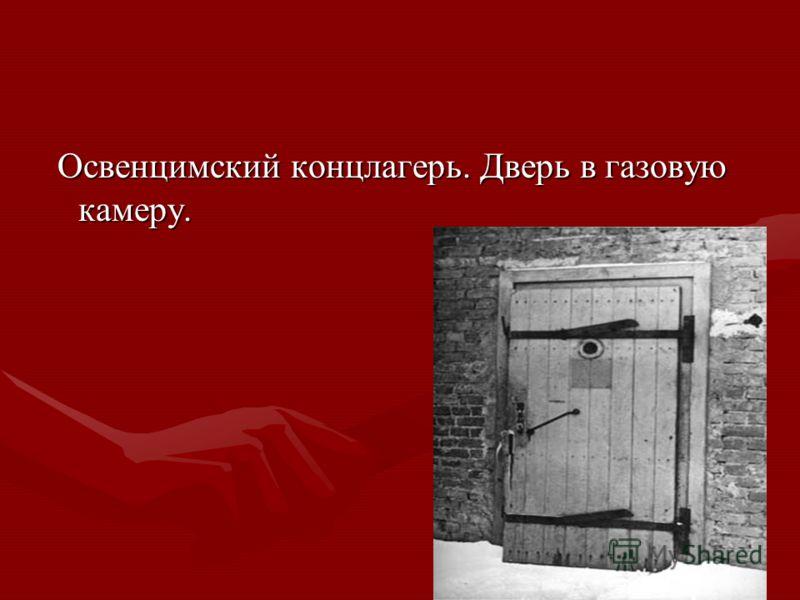 Освенцимский концлагерь. Дверь в газовую камеру. Освенцимский концлагерь. Дверь в газовую камеру.