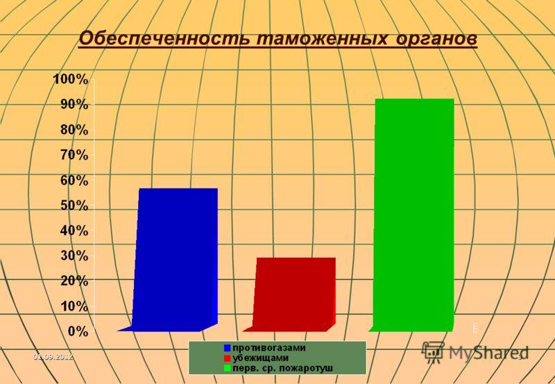 01.09.20129 Обеспеченность таможенных органов