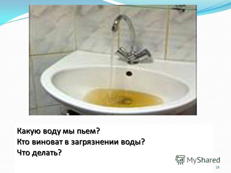 28 Какую воду мы пьем? Кто виноват в загрязнении воды? Что делать?