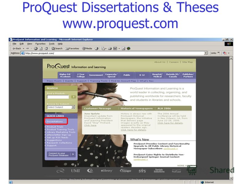 ProQuest Dissertations & Theses www.proquest.com