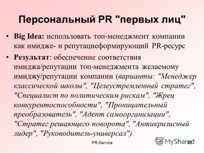 PR-Service38 Персональный PR