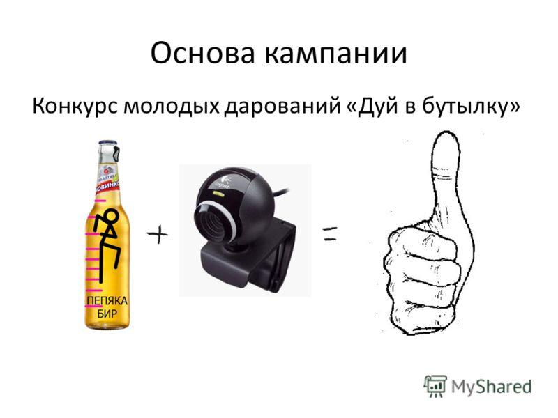 Основа кампании Конкурс молодых дарований «Дуй в бутылку»