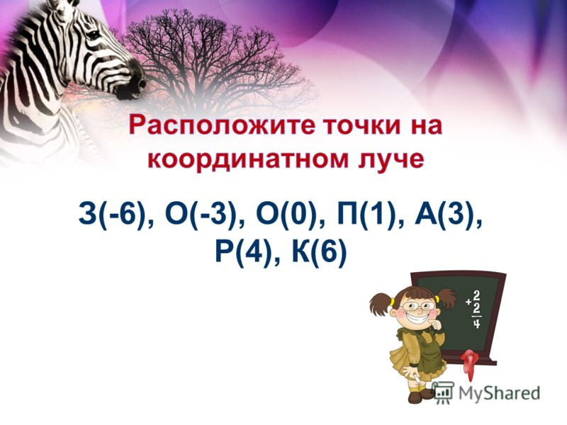 З(-6), О(-3), О(0), П(1), А(3), Р(4), К(6)