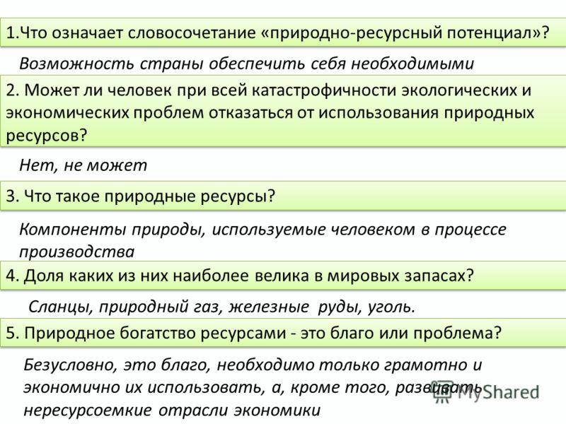 Какими ресурсами богата Россия?