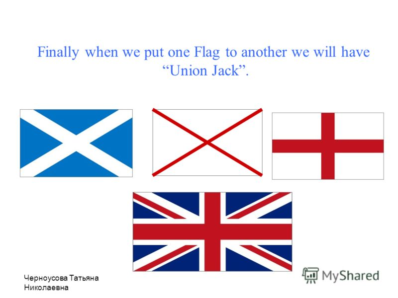 Черноусова Татьяна Николаевна Irish Flag The red X on white of St. Patrick for Ireland