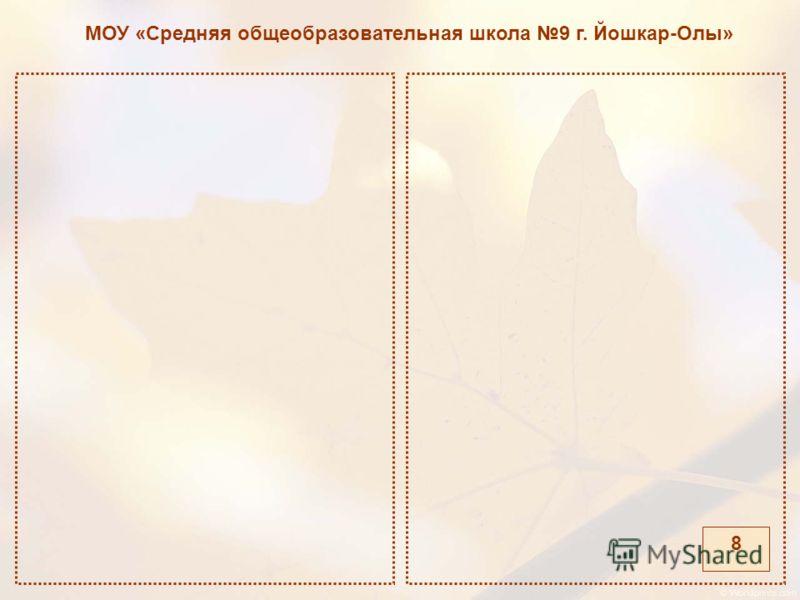 МОУ «Средняя общеобразовательная школа 9 г. Йошкар-Олы» 8