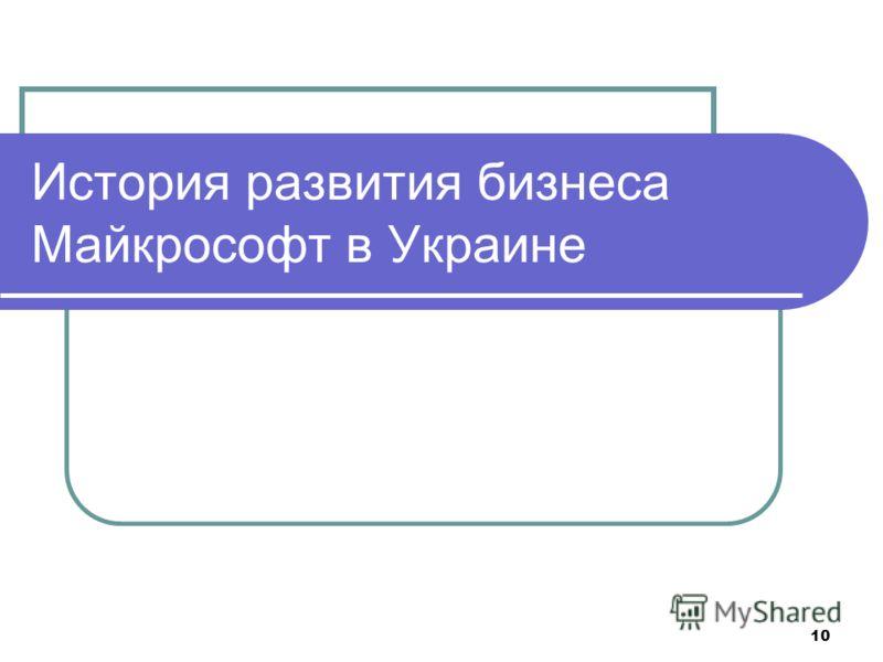 10 История развития бизнеса Майкрософт в Украине