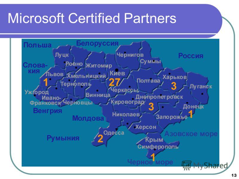 13 Microsoft Certified Partners 271 3 3 1 2 1