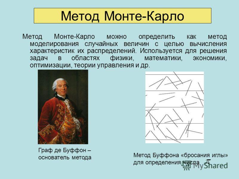 Примере метода Монте-Карло симуляции - Островок
