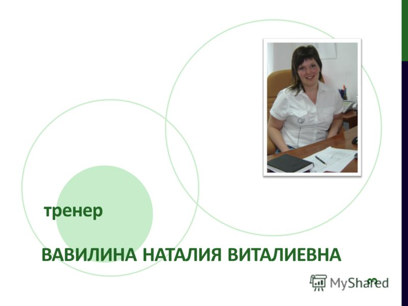 тренер 3 ВАВИЛИНА НАТАЛИЯ ВИТАЛИЕВНА