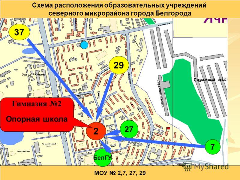 города Белгорода МОУ 2,7,