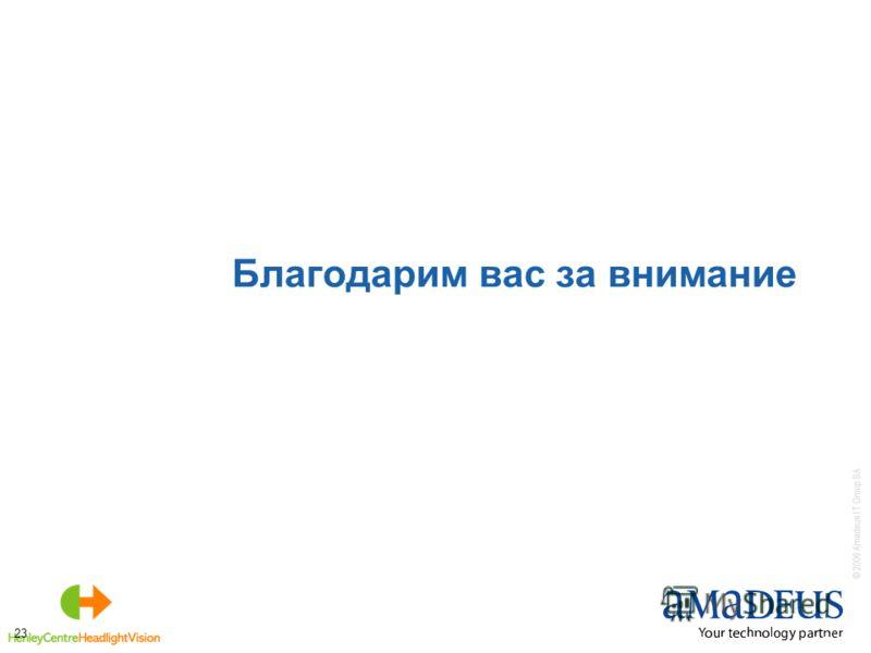 © 2006 Amadeus IT Group SA 23 Благодарим вас за внимание