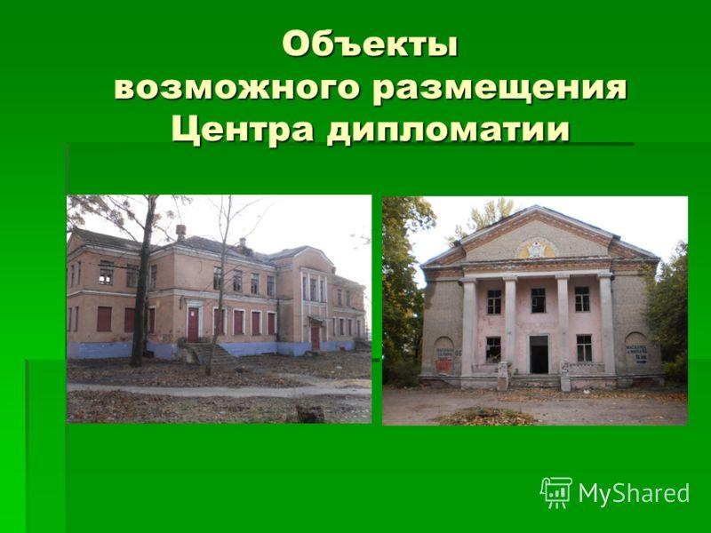 Объекты возможного размещения Центра дипломатии