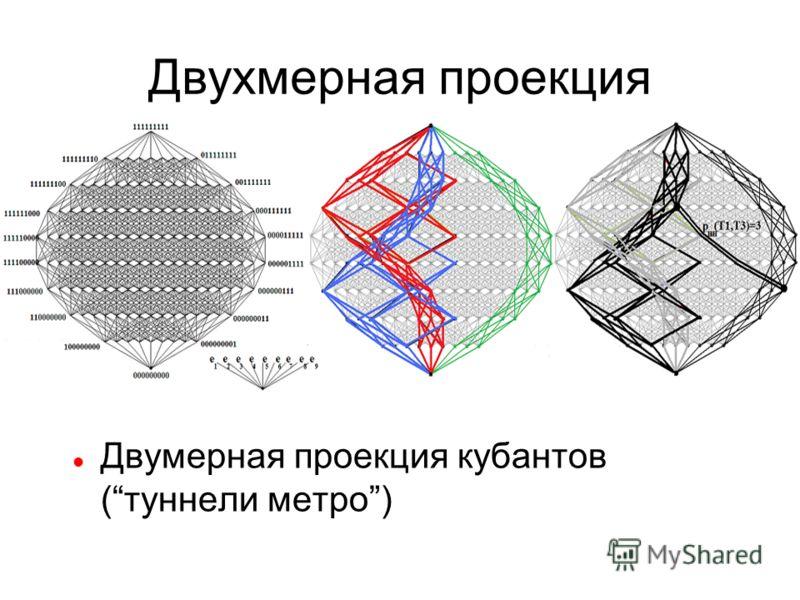 Двухмерная проекция Двумерная проекция кубантов (туннели метро)