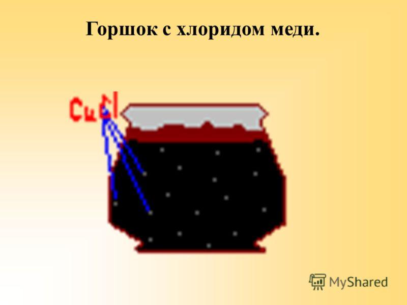 Горшок с хлоридом меди.
