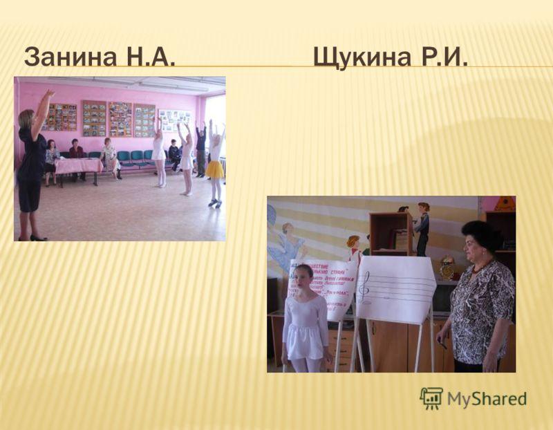 Занина Н.А. Щукина Р.И.