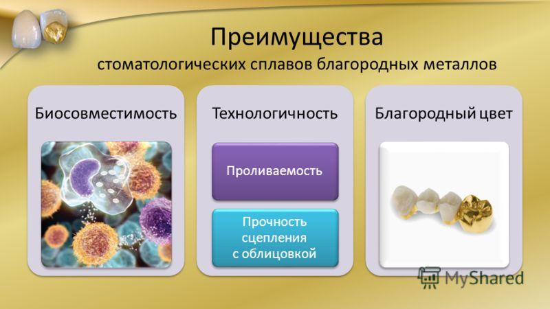 Преимущества стоматологических сплавов благородных металлов