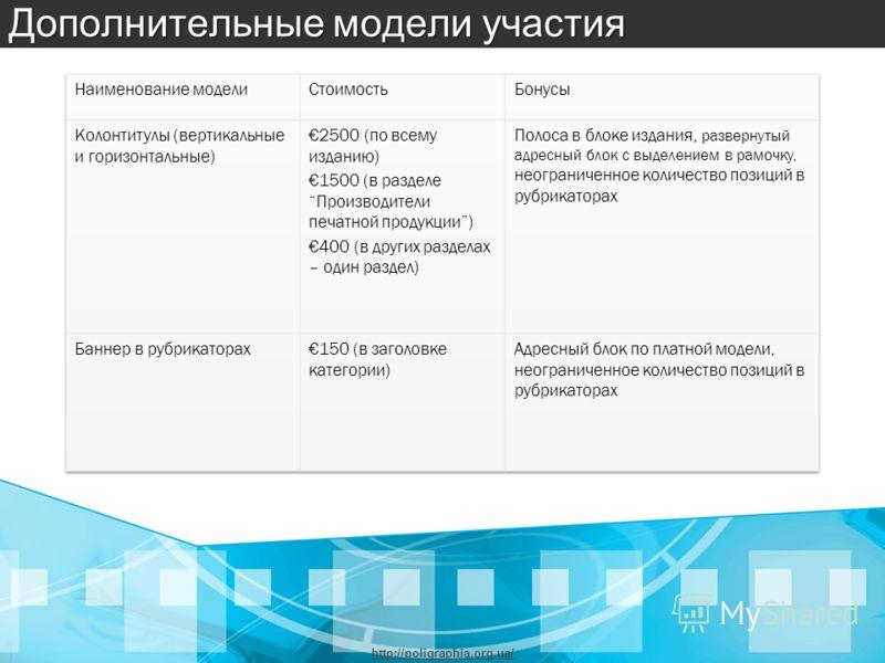 Дополнительные модели участия http://poligraphia.org.ua/