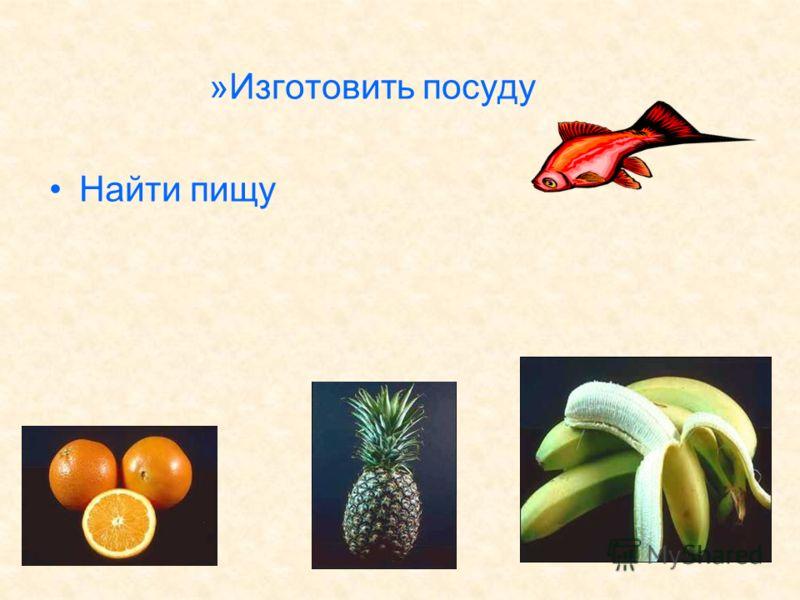 »Изготовить посуду Найти пищу