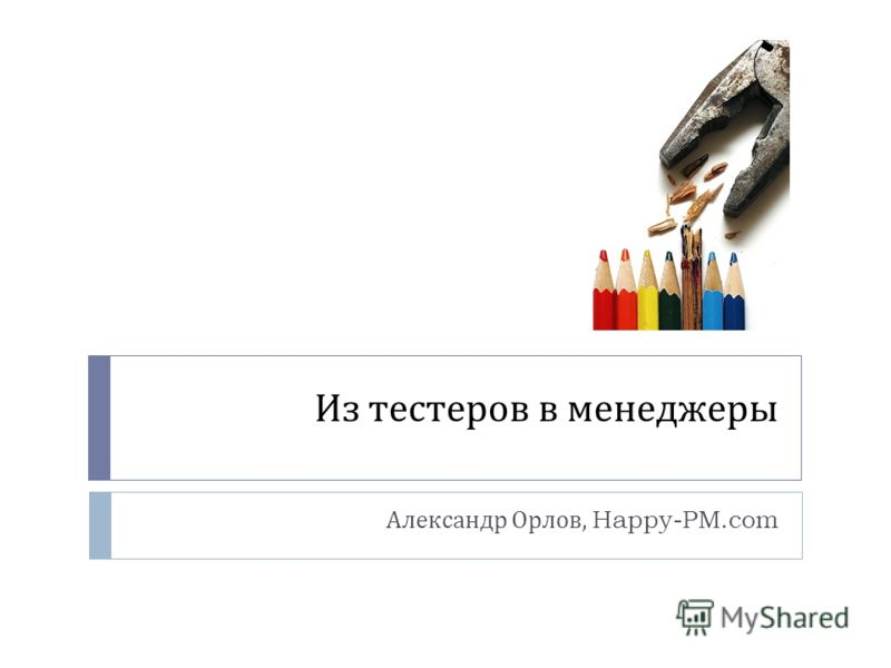 Из тестеров в менеджеры Александр Орлов, Happy-PM.com