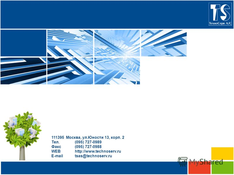 111395 Москва, ул.Юности 13, корп. 2 Тел.(095) 727-0989 Факс(095) 727-0988 WEBhttp://www.technoserv.ru E-mailtsas@technoserv.ru