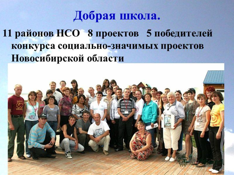 Добрая школа. 11 районов НСО 8 проектов 5 победителей конкурса социально-значимых проектов Новосибирской области