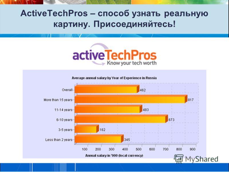 ActiveTechPros – способ узнать реальную картину. Присоединяйтесь!