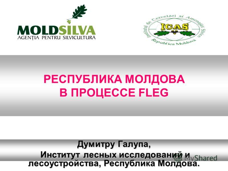 РЕСПУБЛИКА МОЛДОВА В ПРОЦЕССЕ FLEG Думитру Галупа, Институт лесных исследований и лесоустройства, Республика Молдова. Институт лесных исследований и лесоустройства, Республика Молдова.
