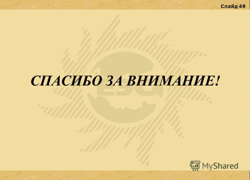 Слайд 49 СПАСИБО ЗА ВНИМАНИЕ!