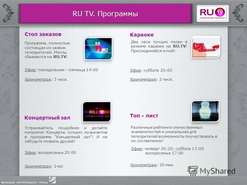 знакомства на канале ru tv
