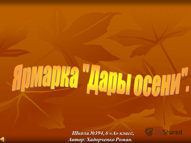 Школа 394, 6 «А» класс, Школа 394, 6 «А» класс, Автор: Хадорченко Роман.