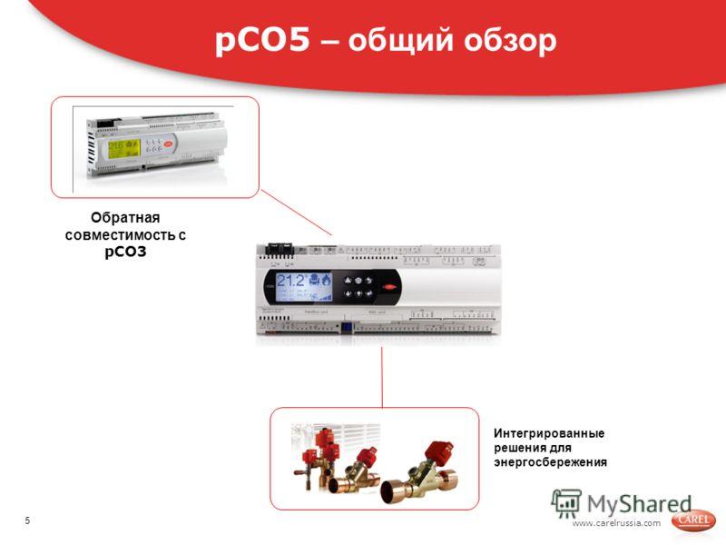 www.carelrussia.com Интегрированные решения для энергосбережения pCO5 – общий обзор Обратная совместимость с pCO3 5