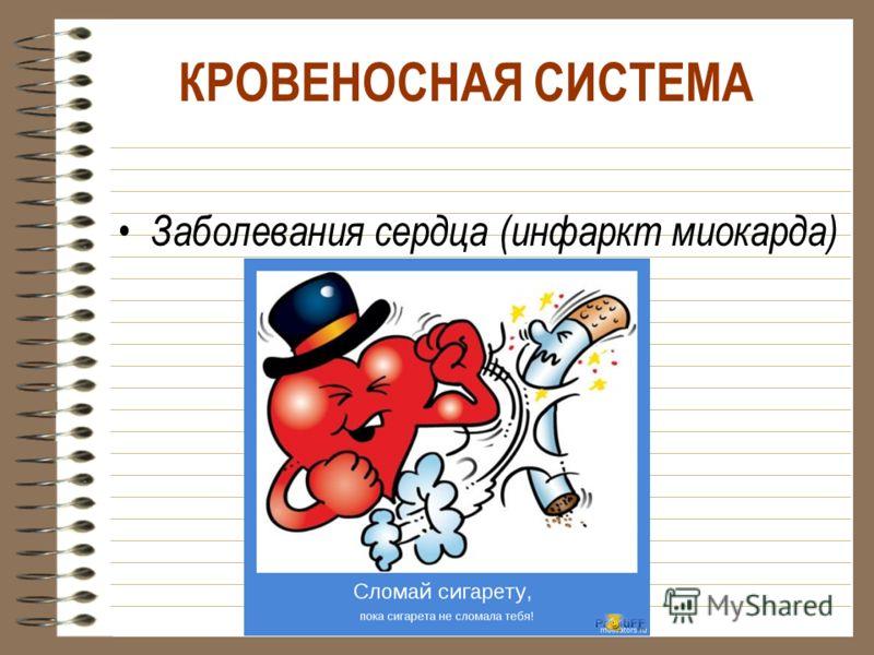 КРОВЕНОСНАЯ СИСТЕМА Заболевания сердца (инфаркт миокарда)