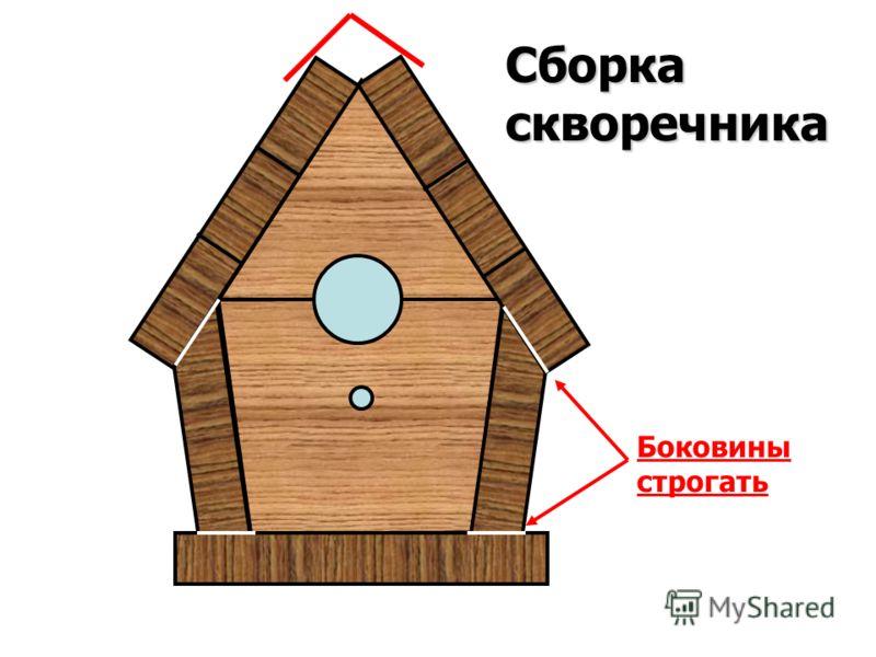 Сборка скворечника Боковины строгать