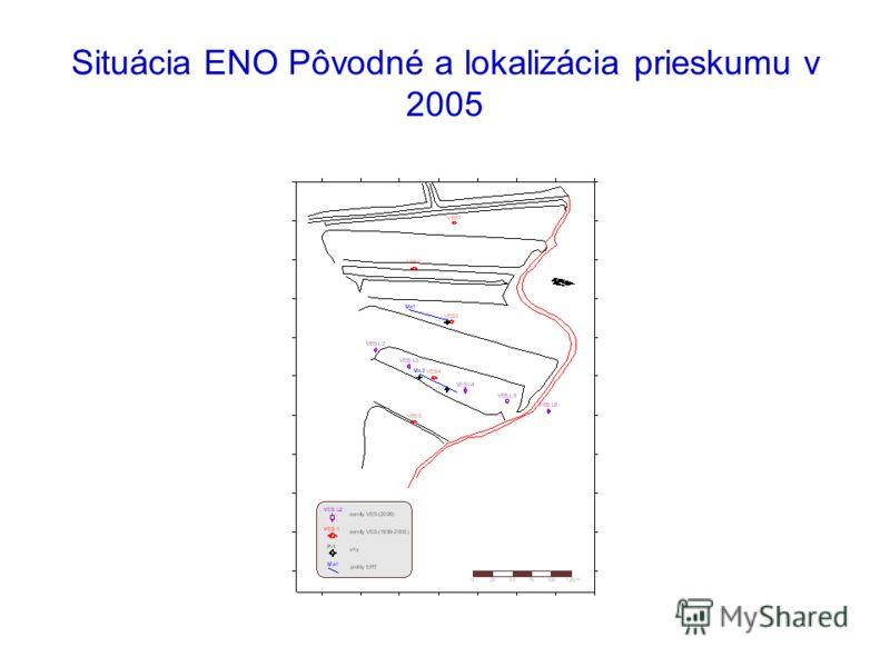 Situácia ENO Pôvodné a lokalizácia prieskumu v 2005