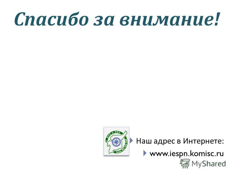 Спасибо за внимание! Наш адрес в Интернете: www.iespn.komisc.ru