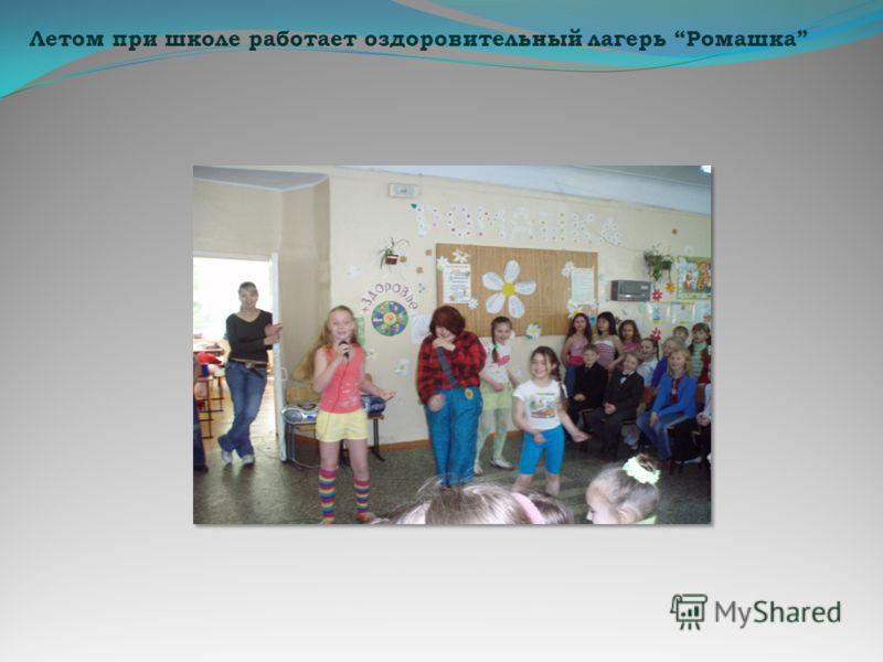 Летом при школе работает оздоровительный лагерь Ромашка