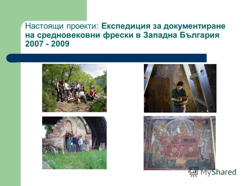 Настоящи проекти: Експедиция за документиране на средновековни фрески в Западна България 2007 - 2009