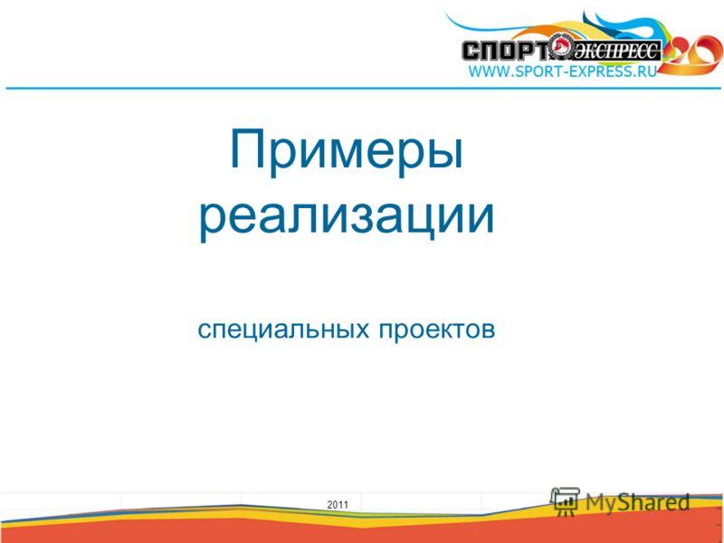 Примеры реализации специальных проектов 2011