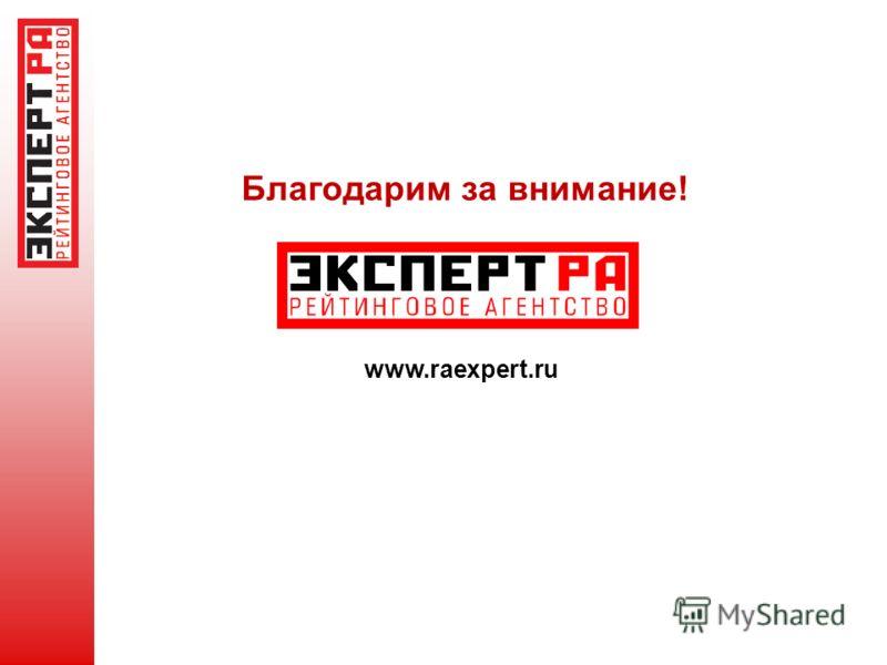 Благодарим за внимание! www.raexpert.ru
