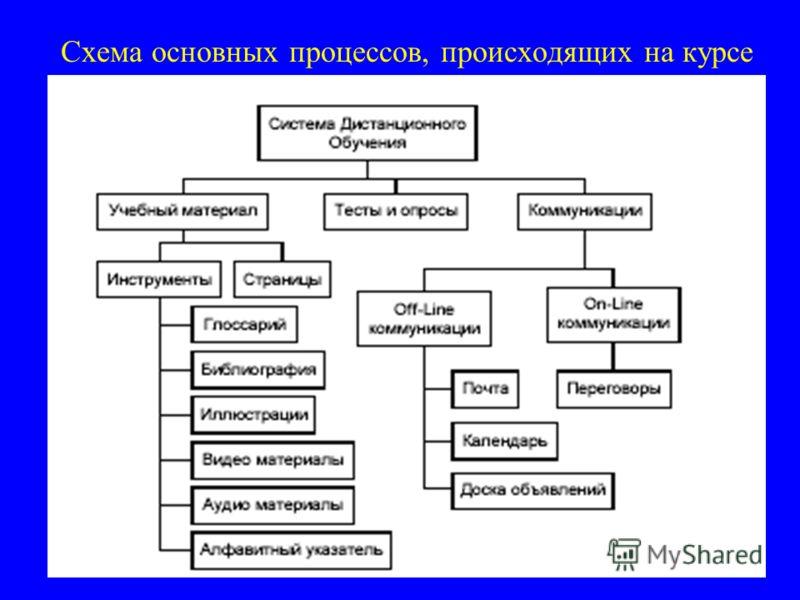 Схема основных процессов, происходящих на курсе