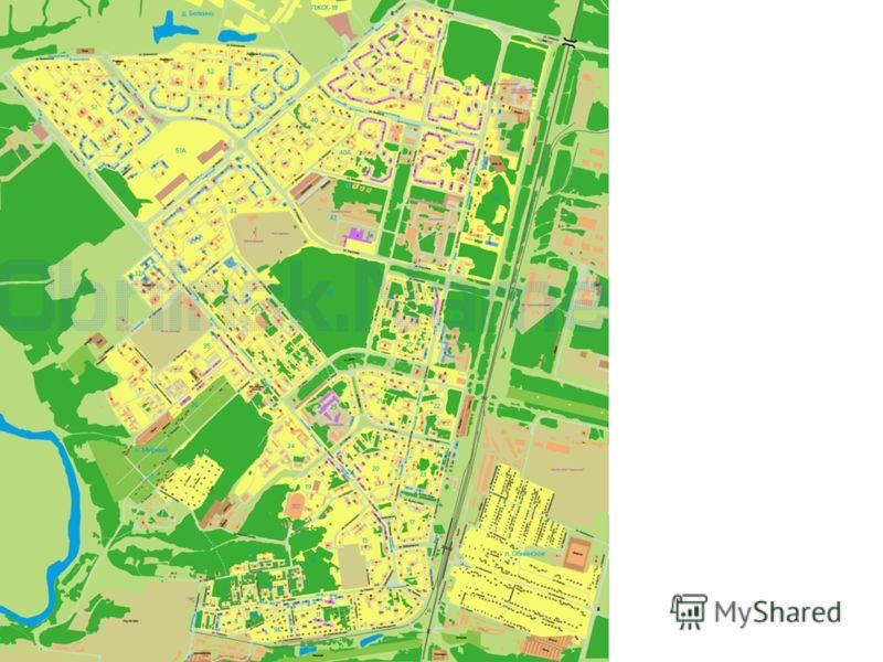 Коэффициенты зоны деятельности на территории города