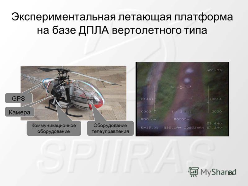 Экспериментальная летающая платформа на базе ДПЛА вертолетного типа GPS Камера Коммуникационное оборудование Оборудование телеуправления 28