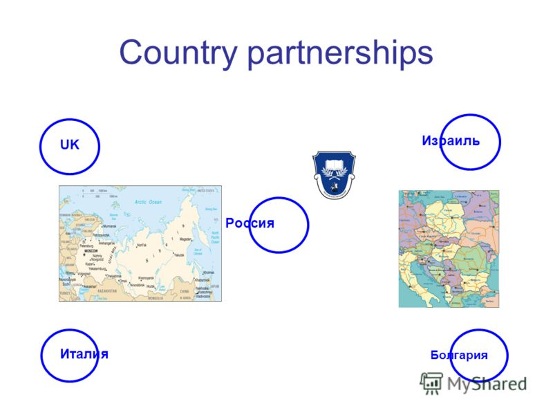 Country partnerships UK Болгария Италия Израиль Россия