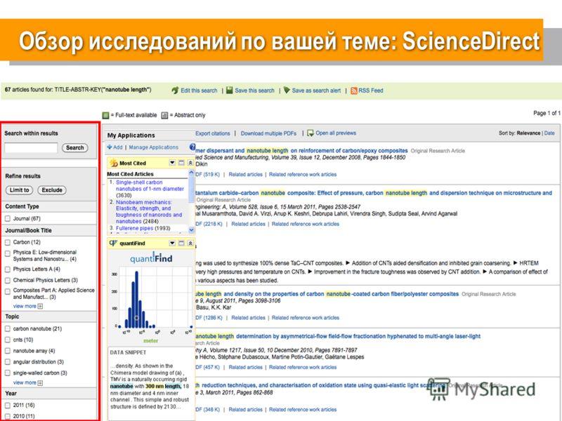 12 Обзор исследований по вашей теме: ScienceDirect